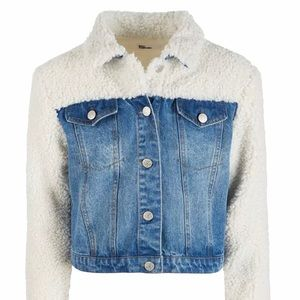 Epic threads Sherpa and denim jacket